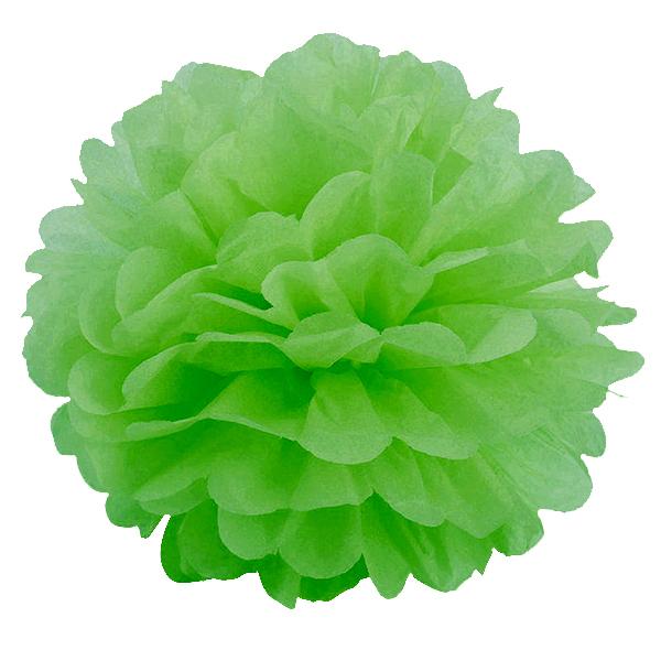 Помпон бумажный 20см светло-зеленый