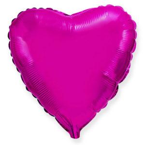 Шар с гелием фольгированный Сердце-PURPLE 18″