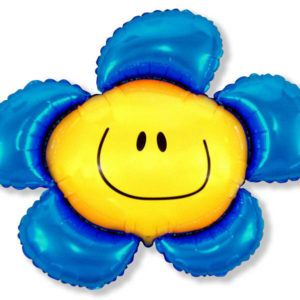 Шар фольгированный с гелием Солнечная-улыбка-Синий