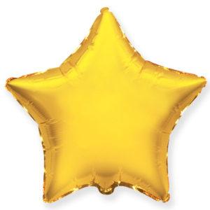 Шар с гелием звезда  18″ Золото
