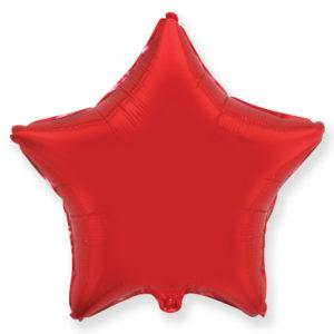 Шар с гелием звезда 18″ Красный