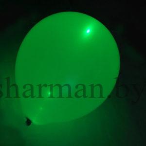 Светящийся шарик с гелием 3 режима зеленый, 12″