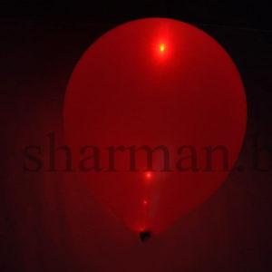 Светящийся шарик с гелием 3 режима красный, 12″