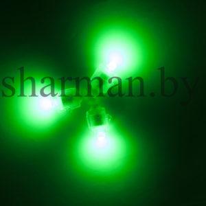 Светодиодный модуль с кнопкой зеленый