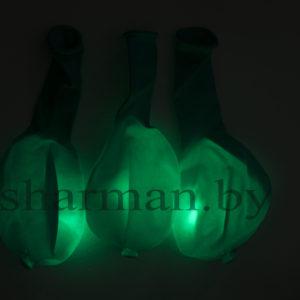 Светящийся шарик с кнопкой зеленый
