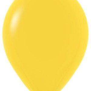 Шарики с гелием 12″ (30 cm) Желтый (020) Sempertex (Колумбия)