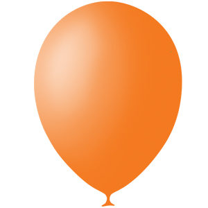 Шарики с гелием 12″ (30 cm) Пастель-ORANGE-005 Globos Payaso