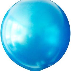 Воздушный шар с гелием 30″ 76см Металлик BLUE 022