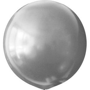 Воздушный шар с гелием 30″ 76см Металлик SILVER 026