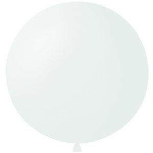 Воздушный шар с гелием 36″ 91см Пастель WHITE 004