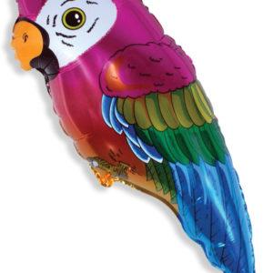 Шар с гелием (35»/89 см) Фигура, Супер попугай
