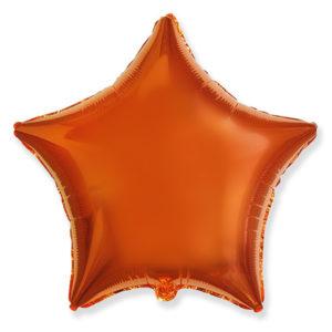 Шар с гелием звезда ORANGE 18″ фольга