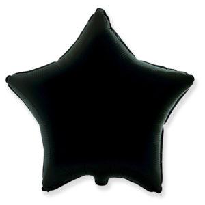 Шар с гелием звезда 18″ BLACK фольгированный