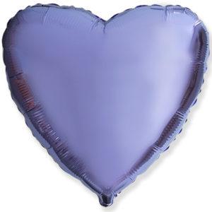 Шар с гелием фольга Сердце LILAC 18″