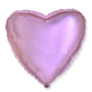 Шар с гелием фольгированный Сердце-Розовый 18″