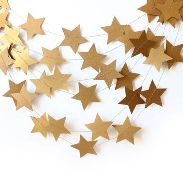 Подвеска Звезды, Золото, 230см