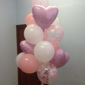 Набор шаров «Розовые сердца»