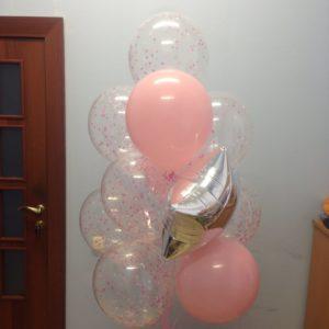 Набор шаров «Розовая прозрачность»