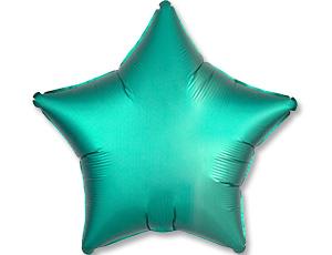 Шар (18″/48 см) Звезда с гелием, Jade, Сатин, Anagram