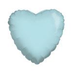 Сердце BABY BLUE 18/45см шар фольга с гелием (к)