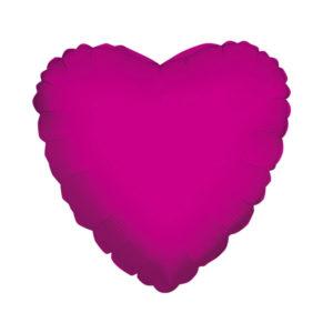 Сердце HOT PINK 18/45см шар фольга с гелием (к)