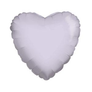 Сердце LIGHT LILACK 18/45см шар фольга с гелием (к)