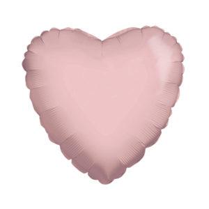 Сердце LIGHT PINK 18/45см шар фольга с гелием (к)