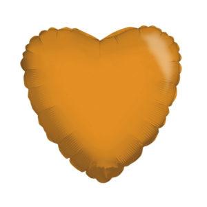 Сердце ORANGE 18/45см шар фольга с гелием (к)