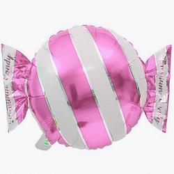 Шар с гелием (18»/46 см) Фигура, Конфета, Розовый
