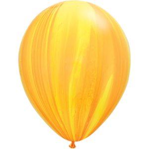 Шар с гелием Супер Агат Yellow Orange