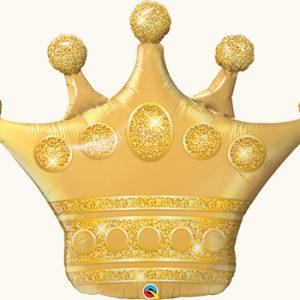 Шар с гелием ФИГУРА Корона золото 41″