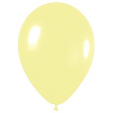 Шар с гелием (12»/30 см) Светло-желтый (120), пастель