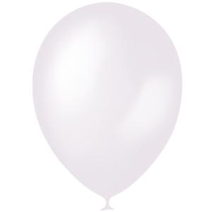 Шарики с гелием 12″ (30 cm) Перламутр-WHITE-072 Globos Payaso