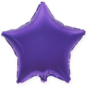 Шар с гелием звезда  18″ Фиолетовый