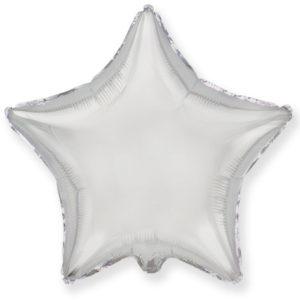 Шар с гелием звезда  18″ Серебро