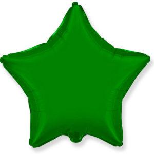 Шар с гелием звезда  18″ Зеленый