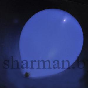 Светящийся шарик с гелием 3 режима белый, 12″