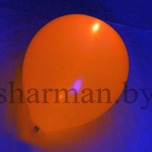 Светящийся шарик с гелием 3 режима желтый (оранжевый), 12″