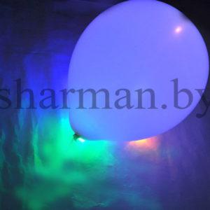 Светящийся шарик с гелием 3 режима хамелеон, 12″
