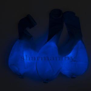 Светящийся шарик с кнопкой синий