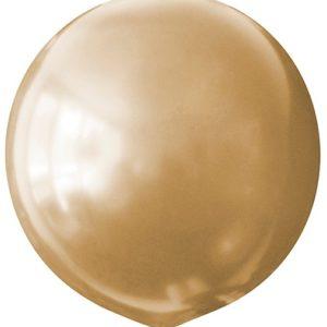 Воздушный шар с гелием 30″ 76см Металлик GOLD 025