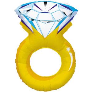 Шар (40»/102 см) Фигура с гелием Кольцо с бриллиантом