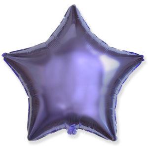 Шар с гелием звезда 18″ LILAC фольгированный