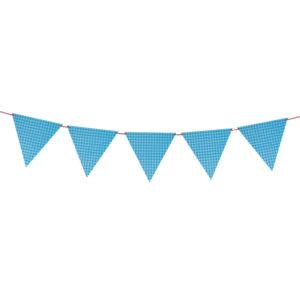 Гирлянда флажки Квадраты, Голубой, 200 см