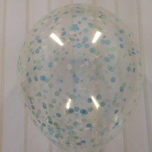 Воздушный шар с конфетти и гелием 12″ (30 см)