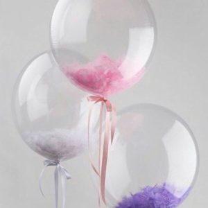 Шар с гелием (18»/46 см) Сфера 3D, Deco Bubble, Прозрачный