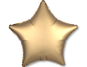 Шар (18″/48 см) Звезда с гелием, Golden, Сатин, Anagram