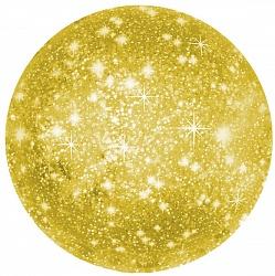 Шар с гелием (18»/46 см) Круг, Искры, Золото