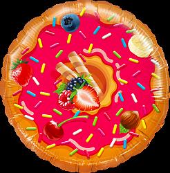 Шар с гелием (18»/46 см) Круг, Пончик