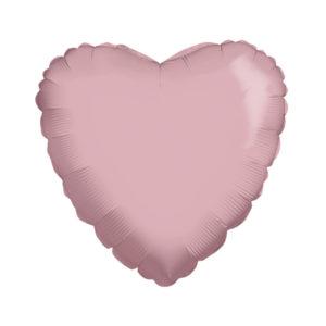 Сердце BABY PINK 18/45см шар фольга с гелием (к)